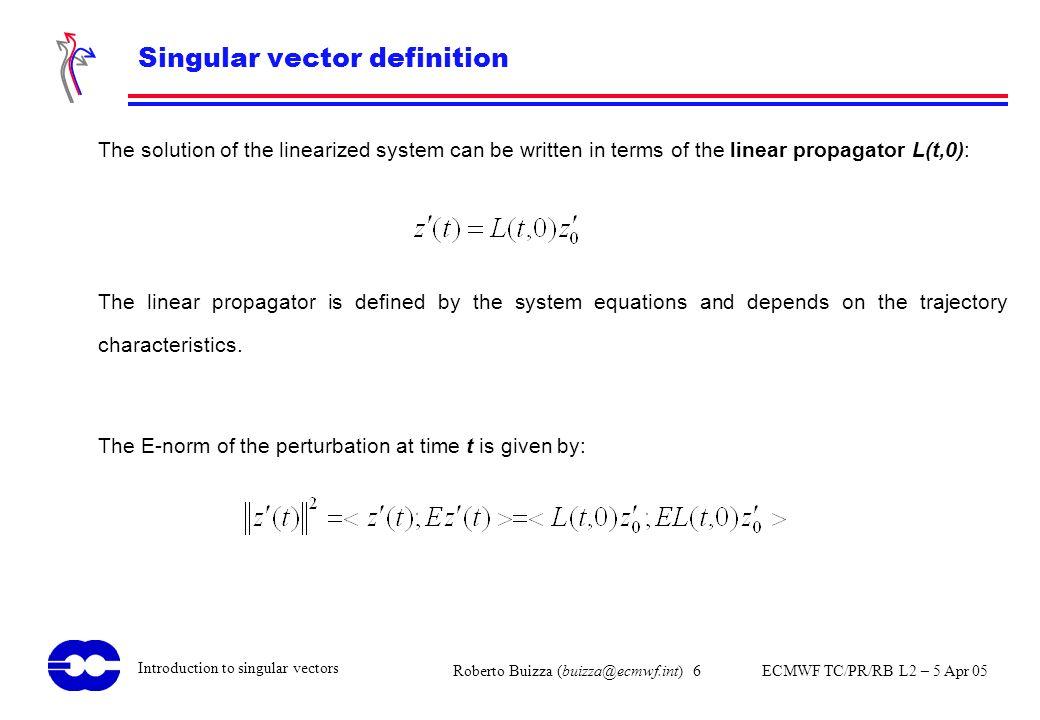 Singular vector definition