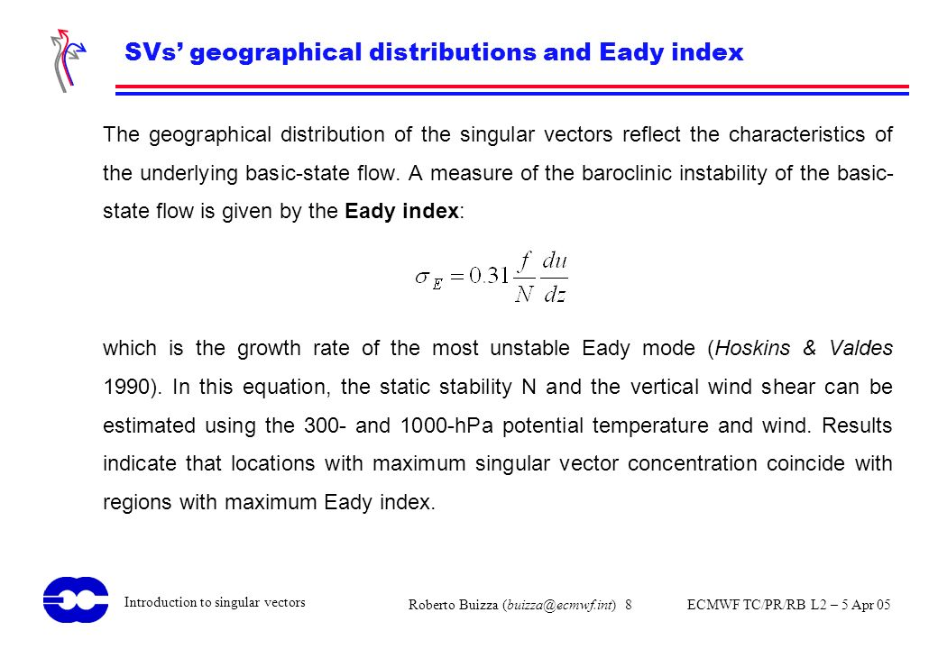 SVs' geographical distributions and Eady index