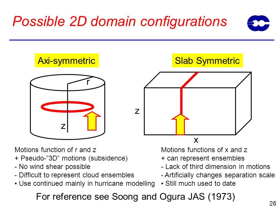 Possible 2D domain configurations