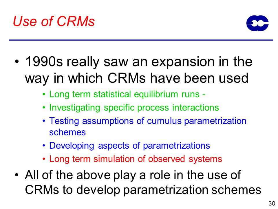 1990s really saw an expansion in the way in which CRMs have been used