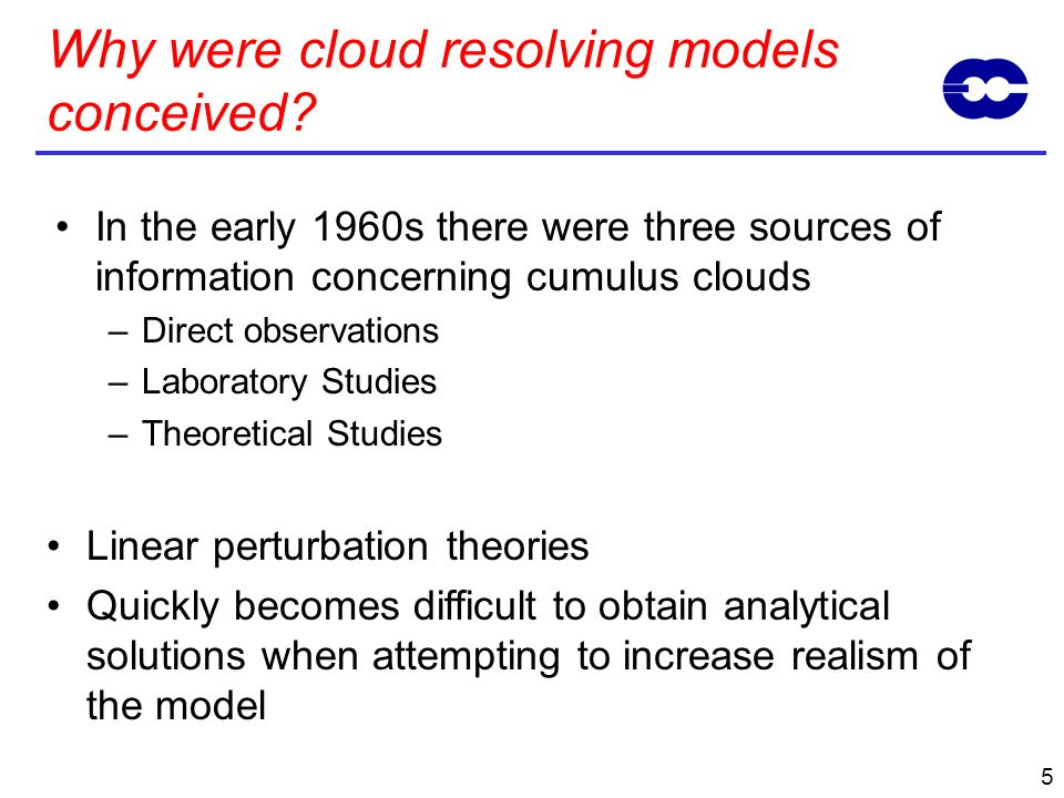 Why were cloud resolving models conceived