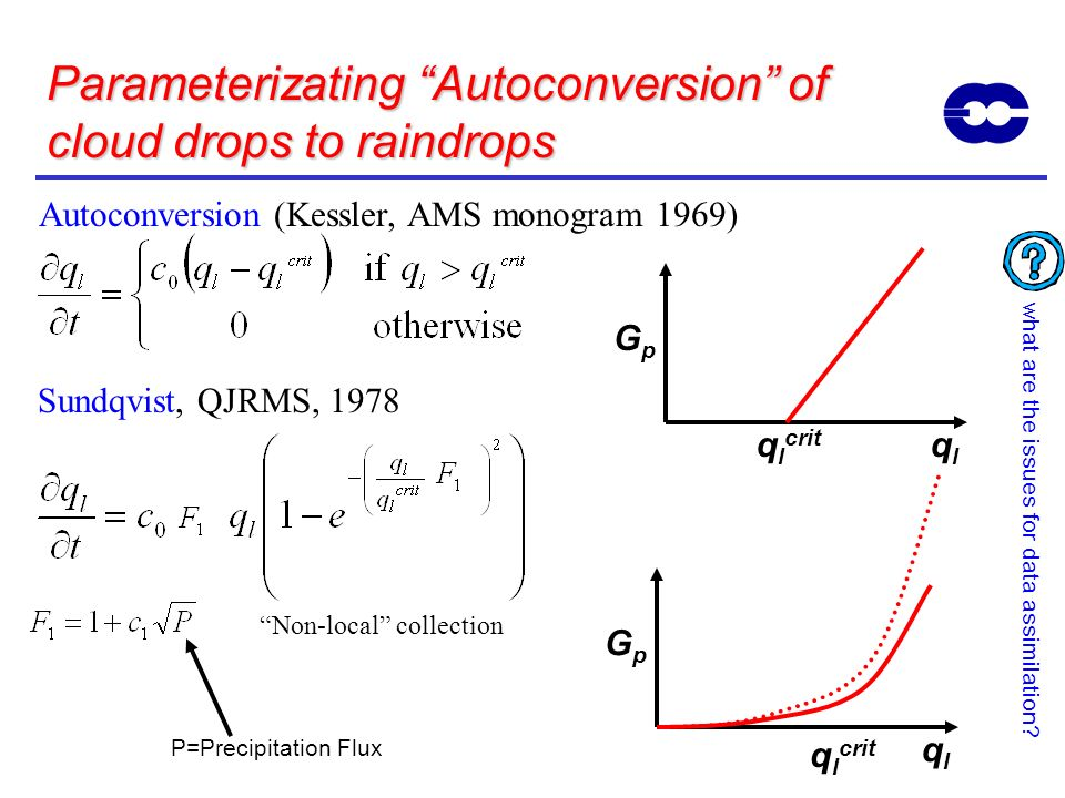 Parameterizating Autoconversion of cloud drops to raindrops