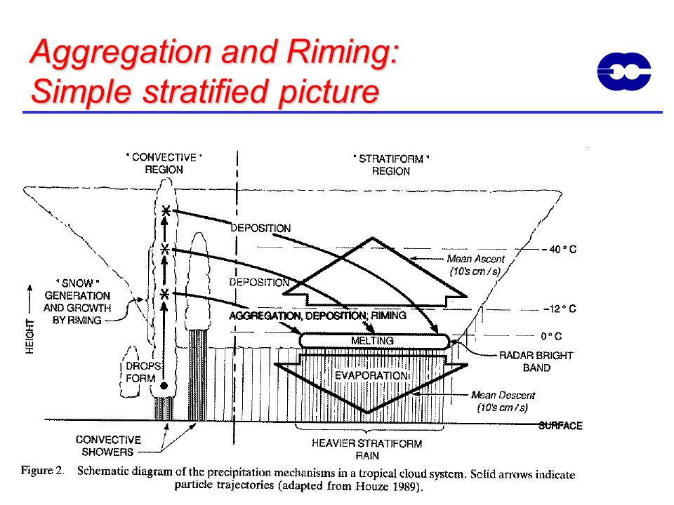 Aggregation and Riming: Simple stratified picture