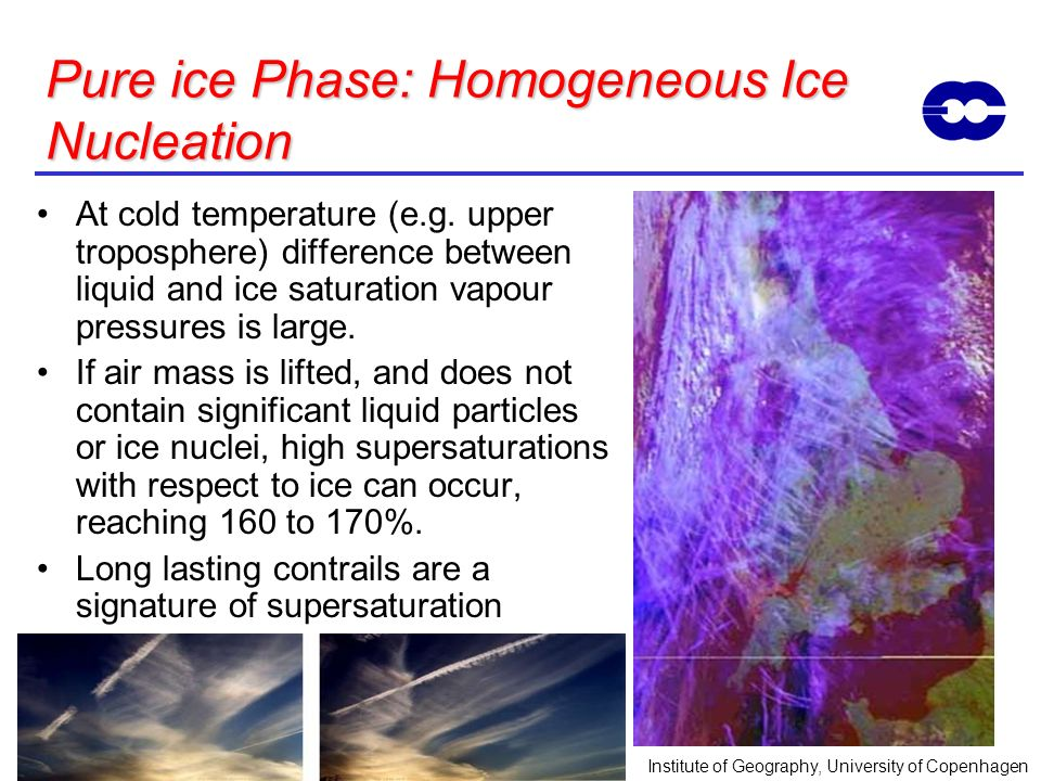 Pure ice Phase: Homogeneous Ice Nucleation
