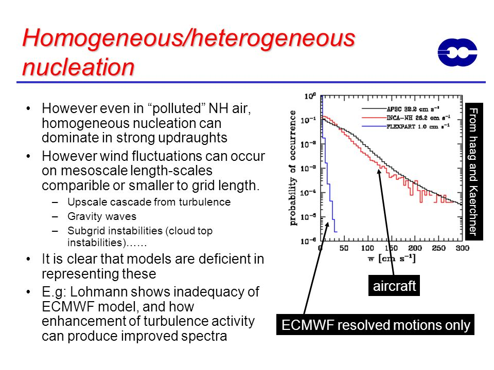 Homogeneous/heterogeneous nucleation