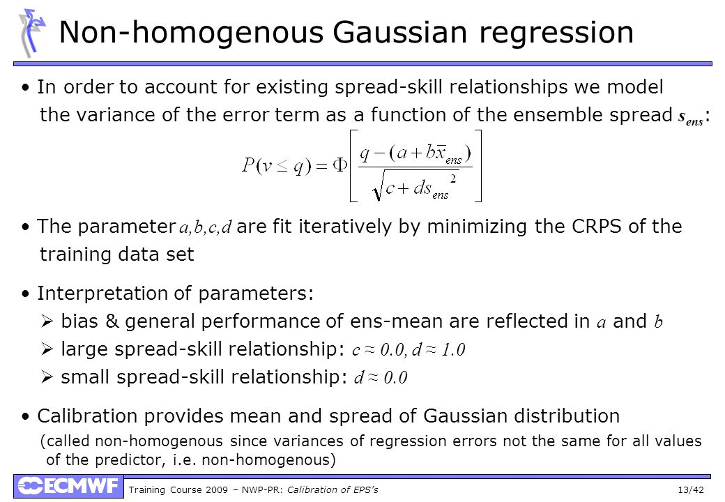 Non-homogenous Gaussian regression