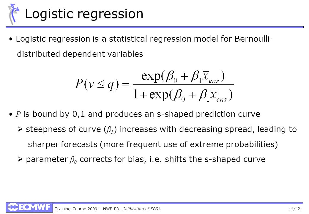 Logistic regression Logistic regression is a statistical regression model for Bernoulli- distributed dependent variables.