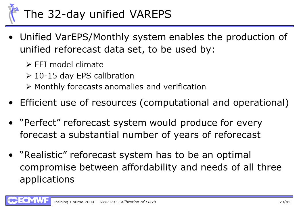 The 32-day unified VAREPS