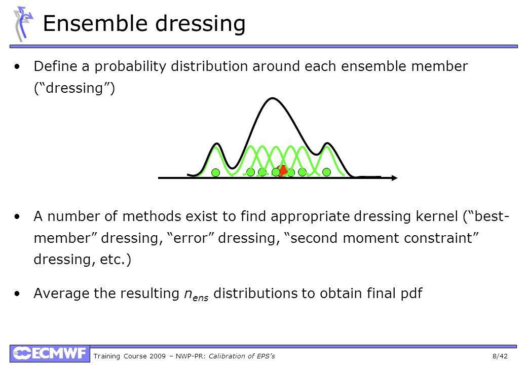 Ensemble dressingDefine a probability distribution around each ensemble member ( dressing )