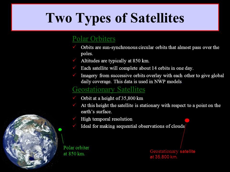 Two Types of Satellites