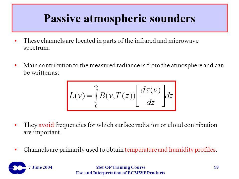 Passive atmospheric sounders