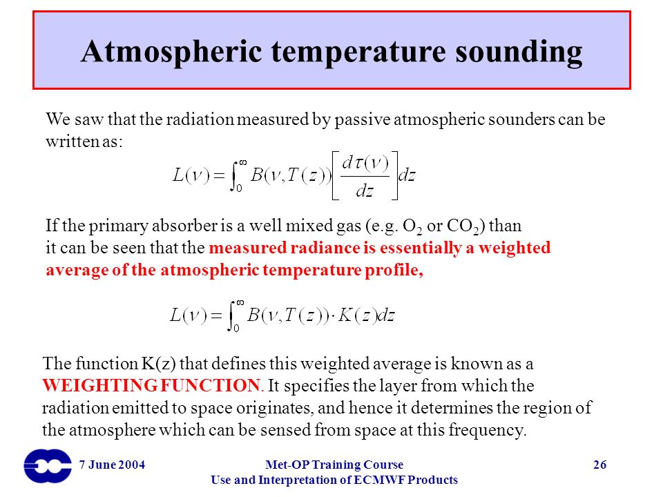 Atmospheric temperature sounding