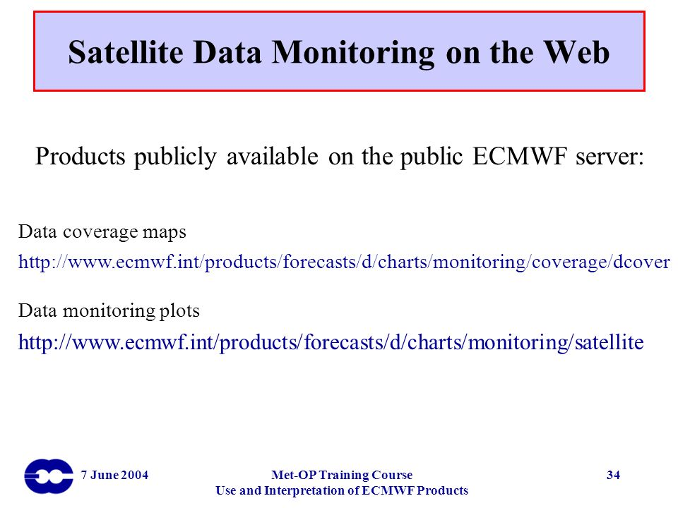 Satellite Data Monitoring on the Web