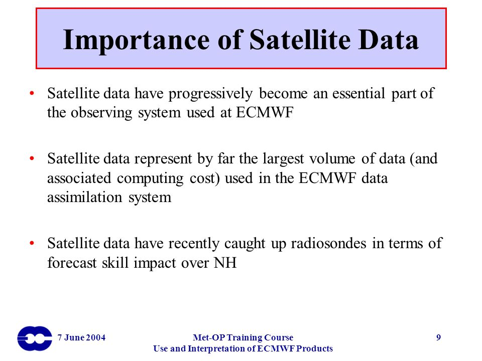 Importance of Satellite Data