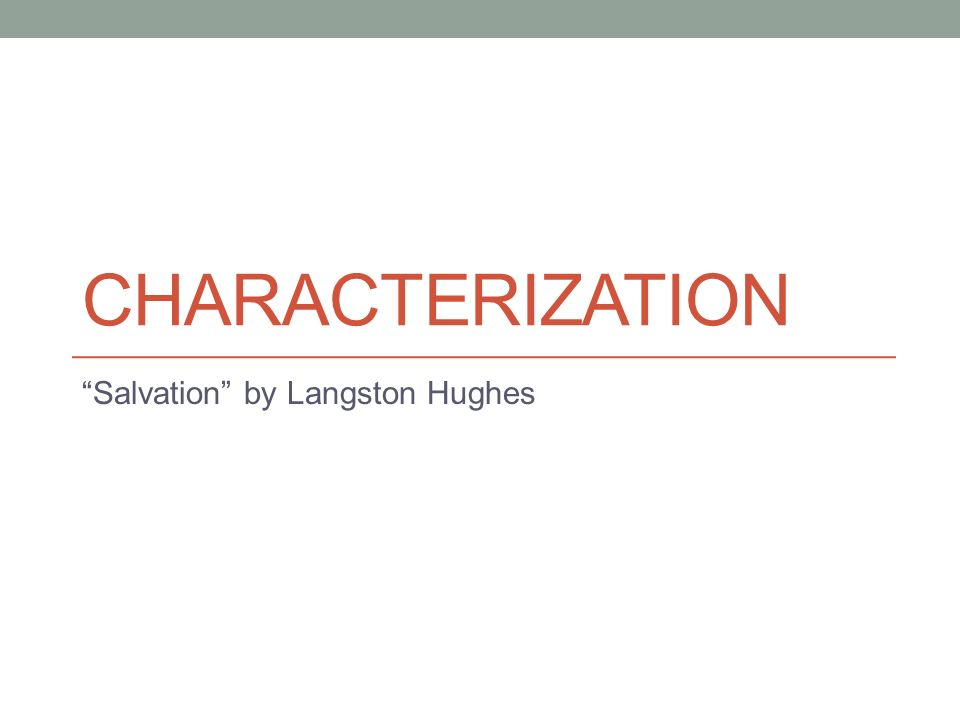 "salvation"" by langston hughes ppt video online  1 ""salvation"" by langston hughes"