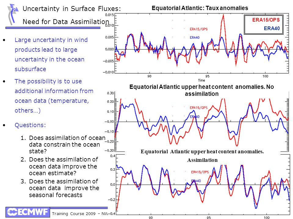 Uncertainty in Surface Fluxes: Need for Data Assimilation