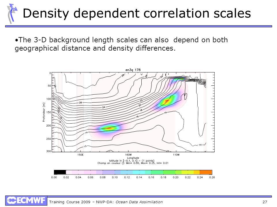 Density dependent correlation scales