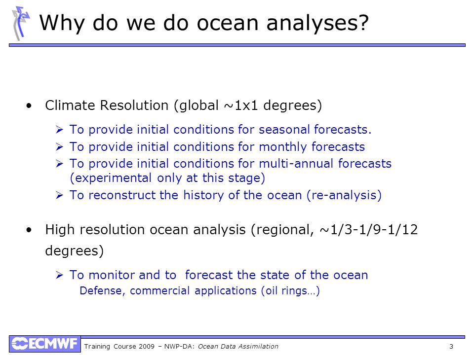 Why do we do ocean analyses