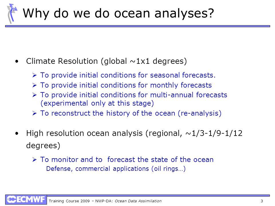 Why do we do ocean analyses