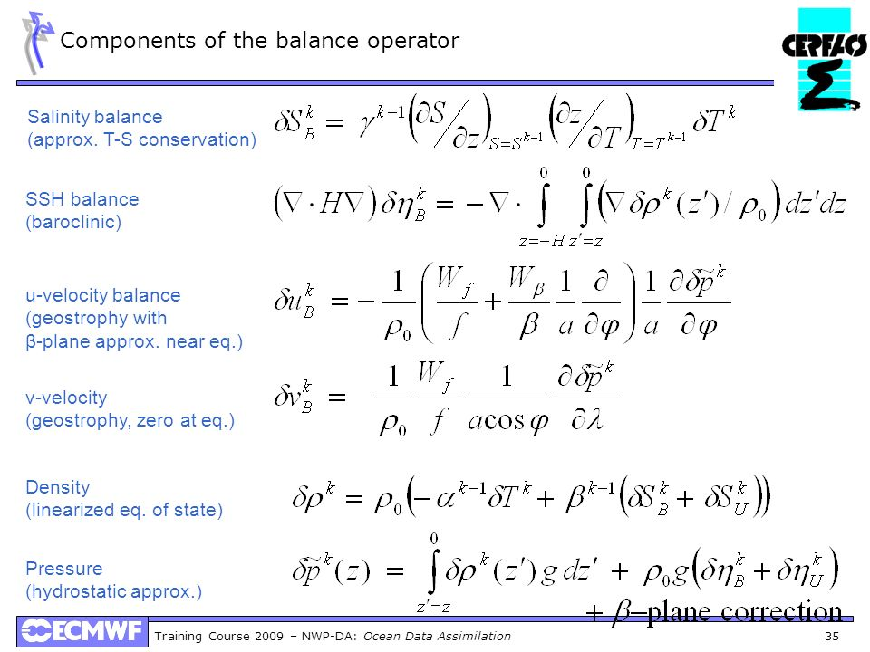 Components of the balance operator