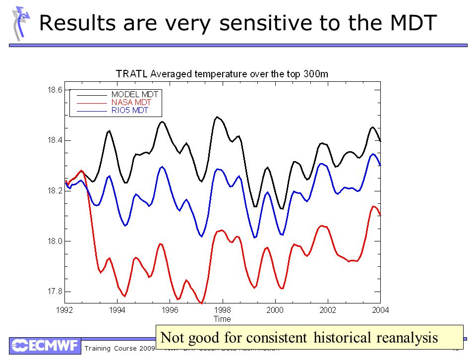 Results are very sensitive to the MDT