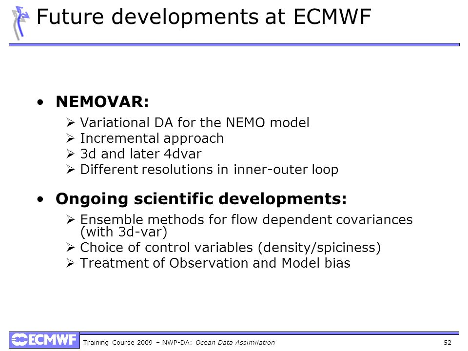 Future developments at ECMWF