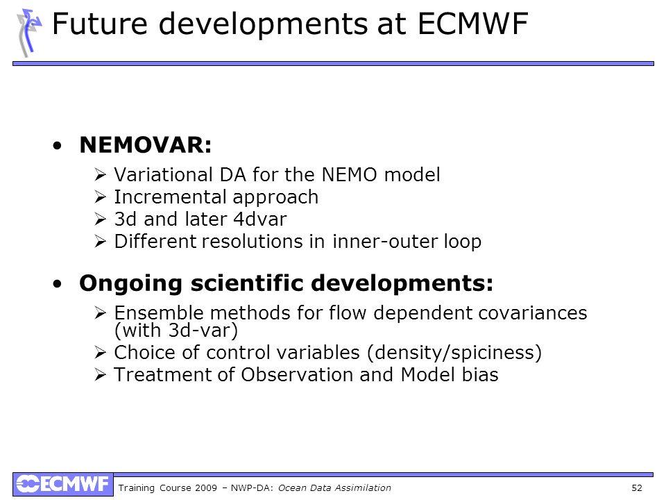 Future developments at ECMWF