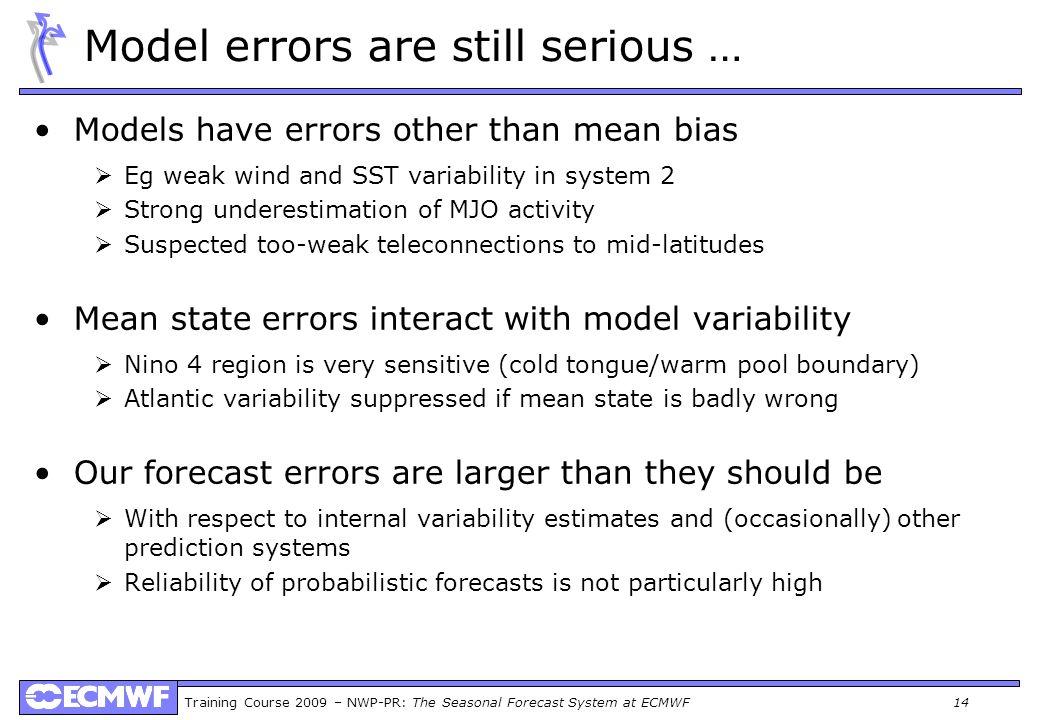Model errors are still serious …