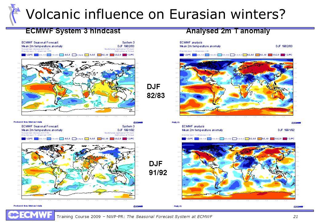 Volcanic influence on Eurasian winters