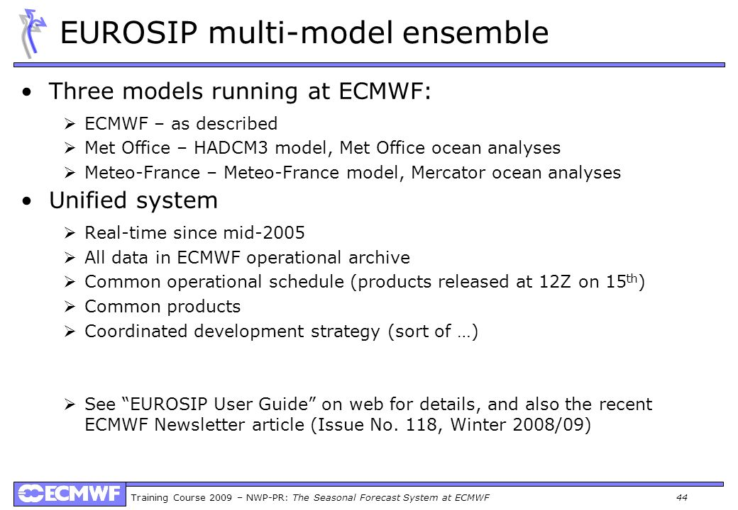 EUROSIP multi-model ensemble