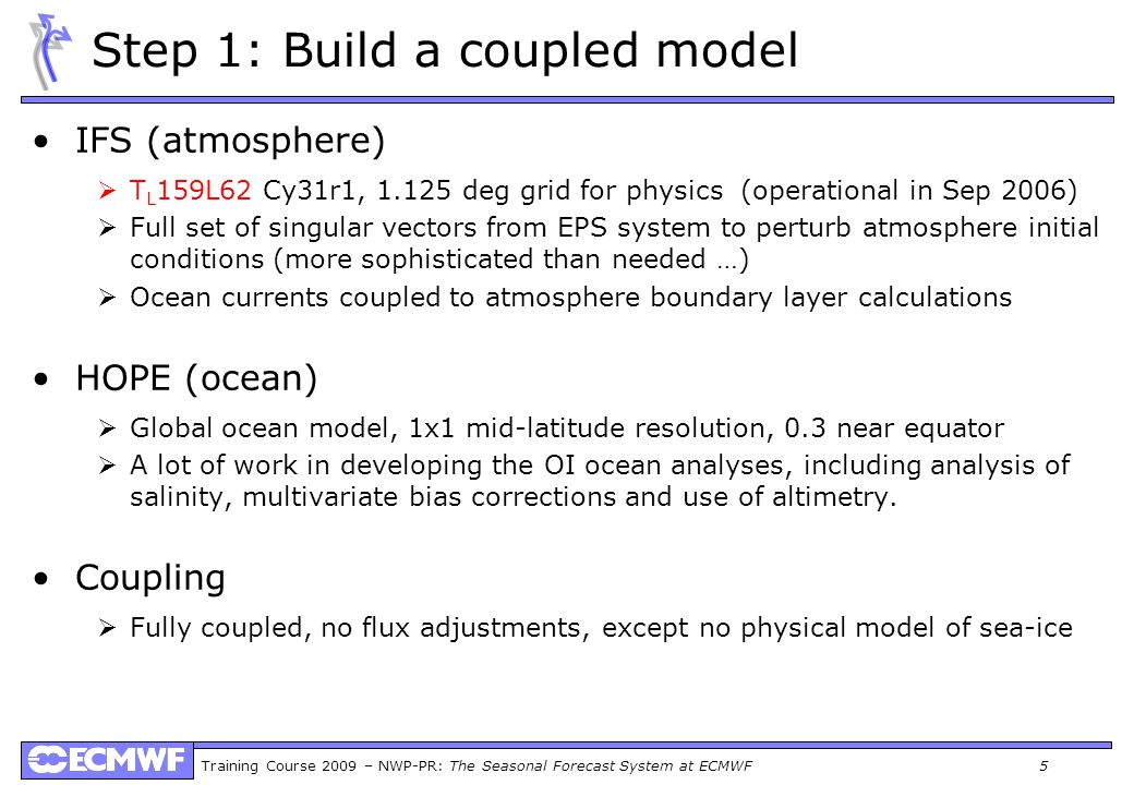 Step 1: Build a coupled model