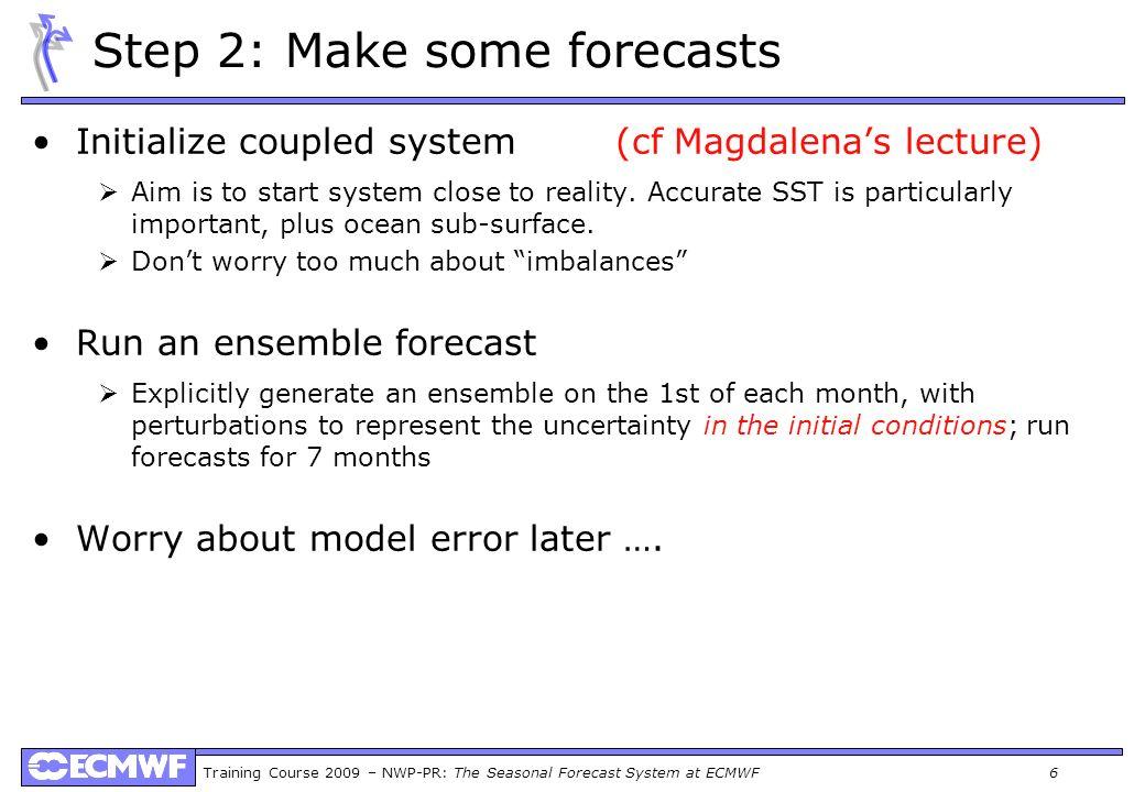 Step 2: Make some forecasts