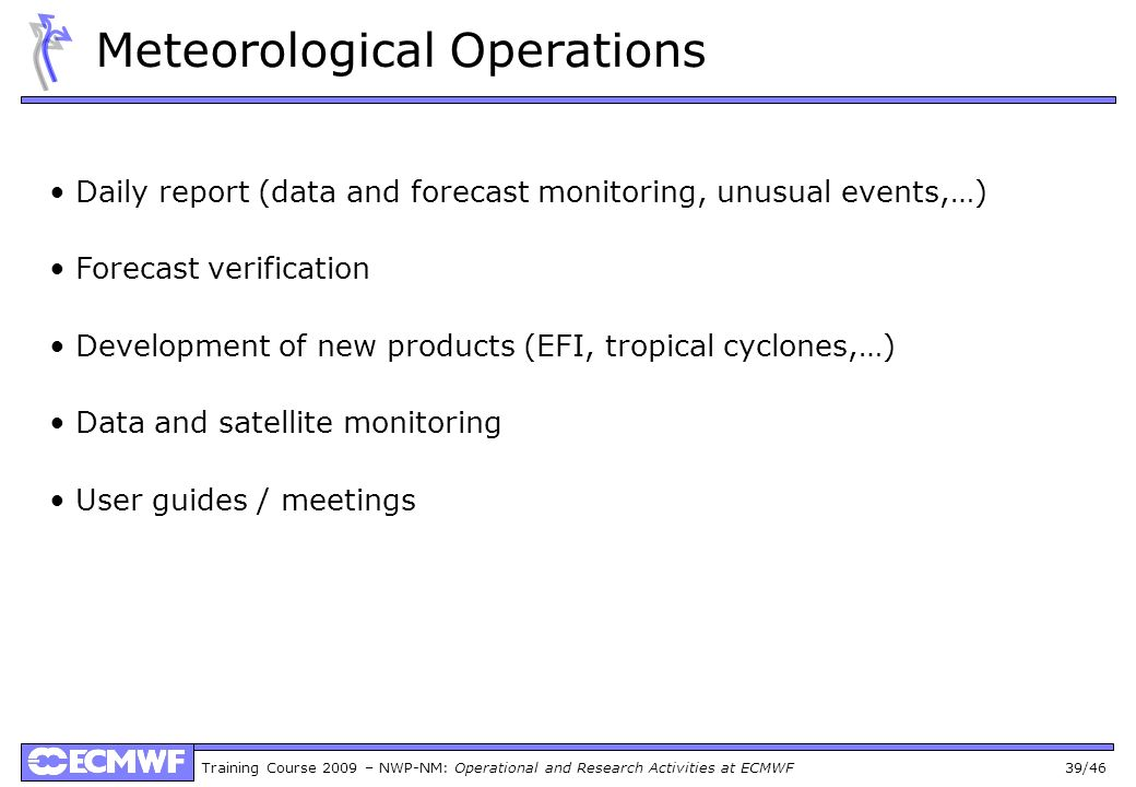 Meteorological Operations