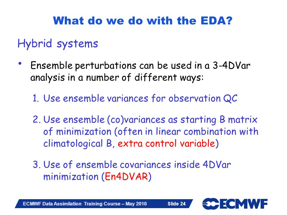 What do we do with the EDA