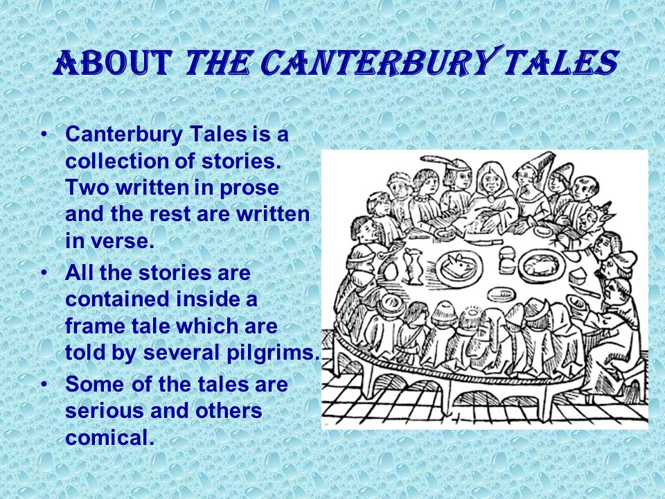 the stereotypes in the story of the canterbury tales Of all the narratives listed in the canterbury tales, the characters described in the wife of bath's story stand out among the others, and it is.