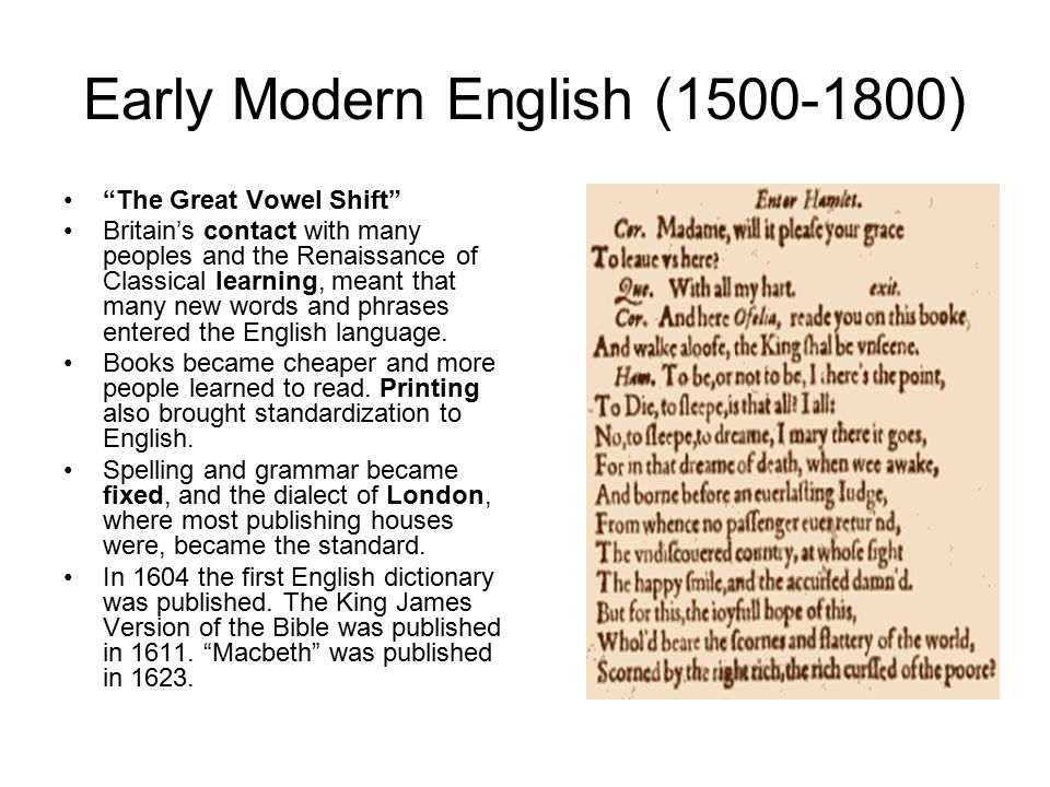 Image result for early modern english