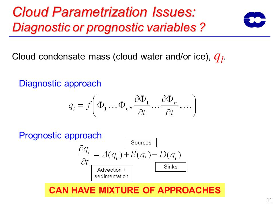 Cloud Parametrization Issues: Diagnostic or prognostic variables