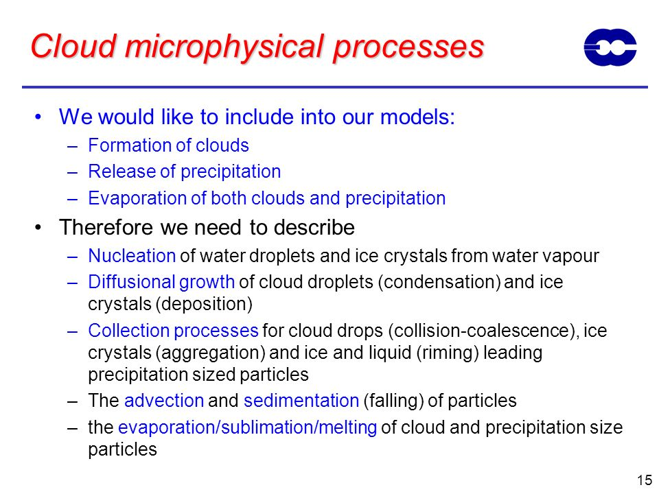 Cloud microphysical processes