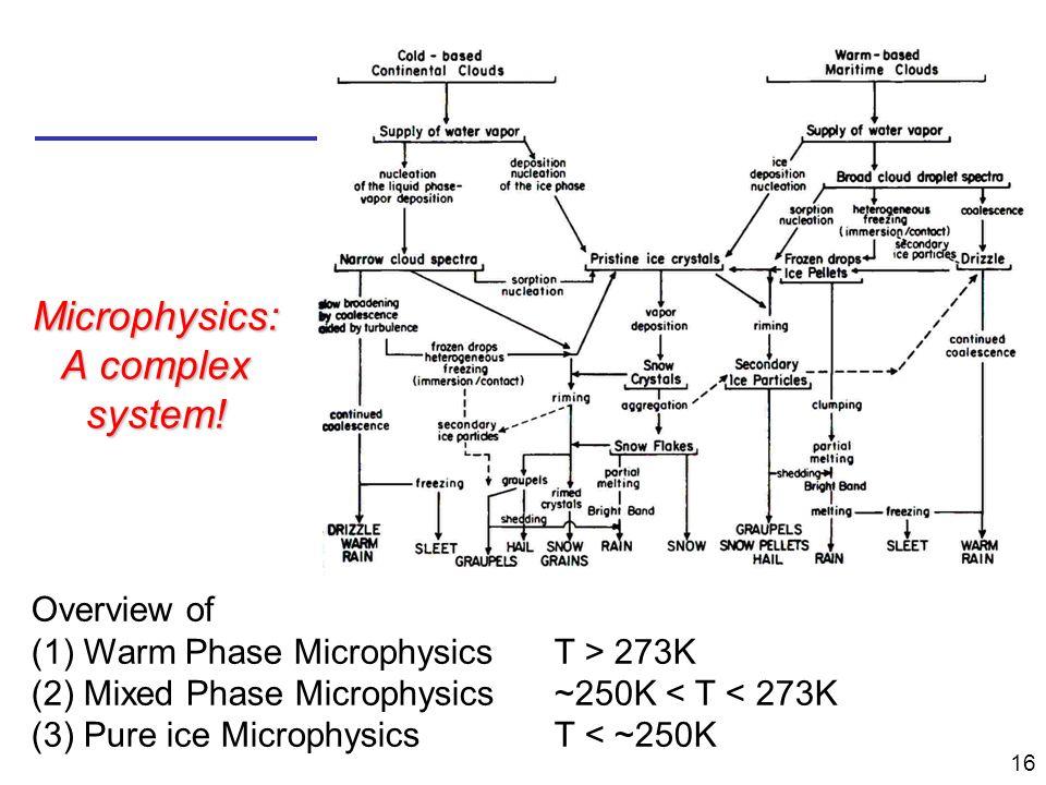 Microphysics: A complex system!