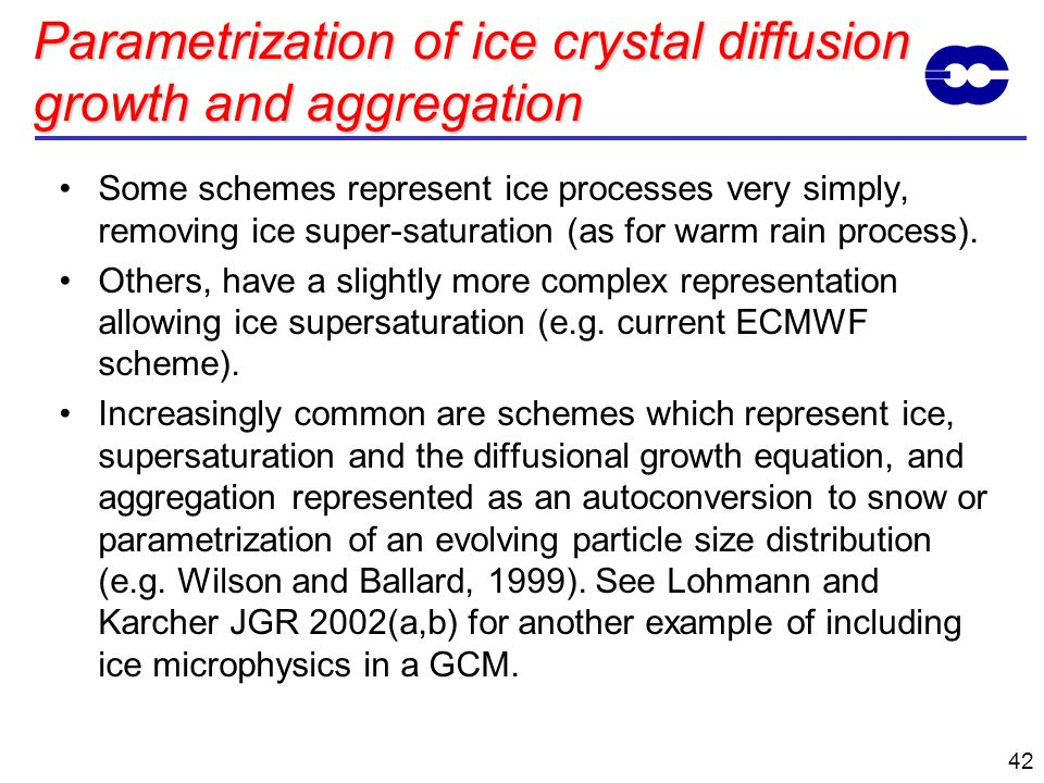 Parametrization of ice crystal diffusion growth and aggregation