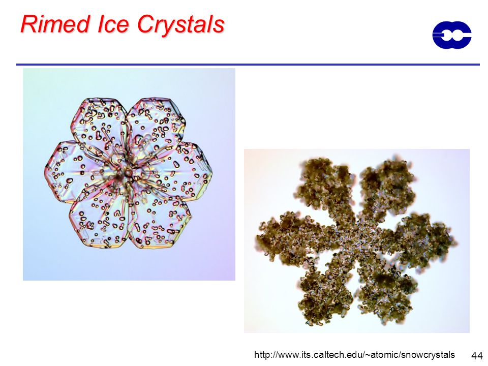 Rimed Ice Crystals http://www.its.caltech.edu/~atomic/snowcrystals