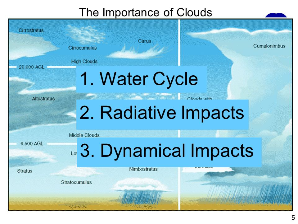 1. Water Cycle 2. Radiative Impacts 3. Dynamical Impacts