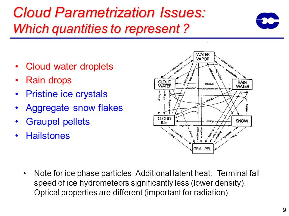 Cloud Parametrization Issues: Which quantities to represent