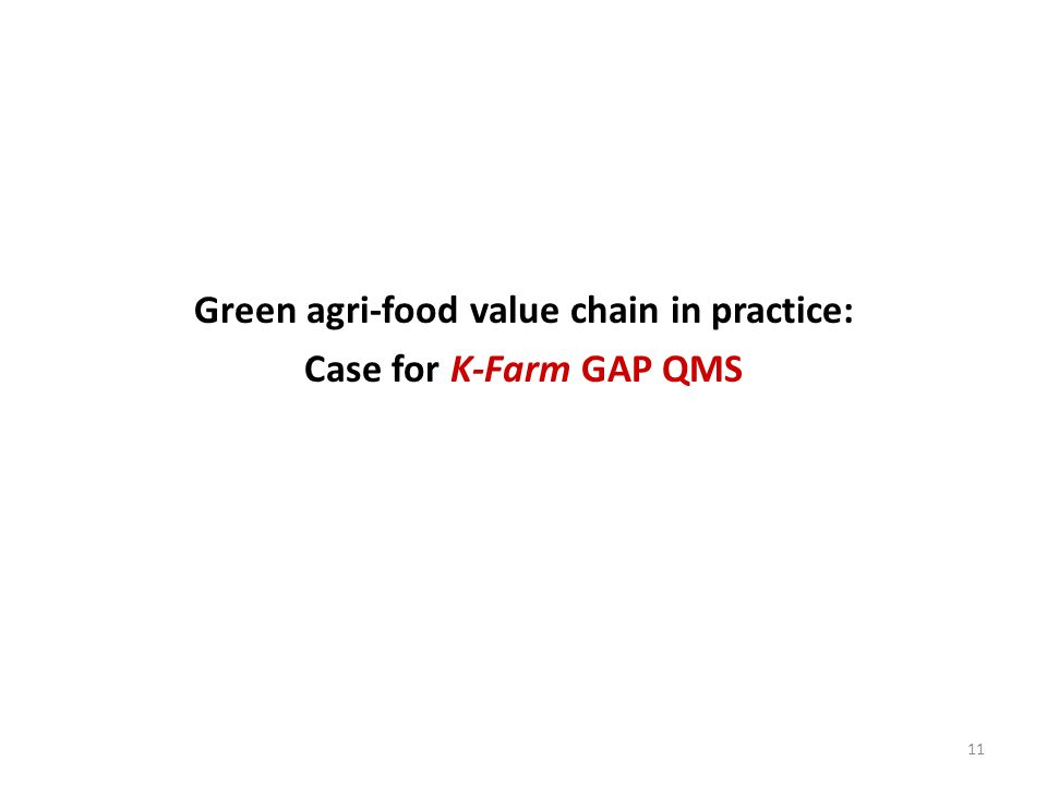 Green agri-food value chain in practice: