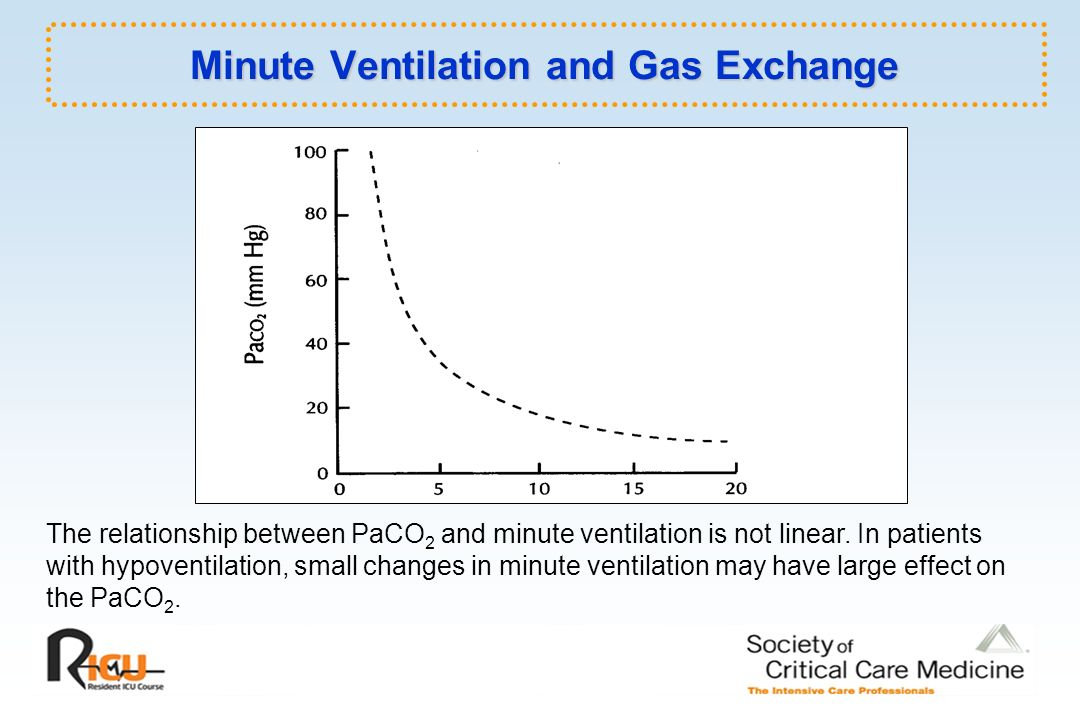 what is the relationship between paco2 and alveolar ventilation