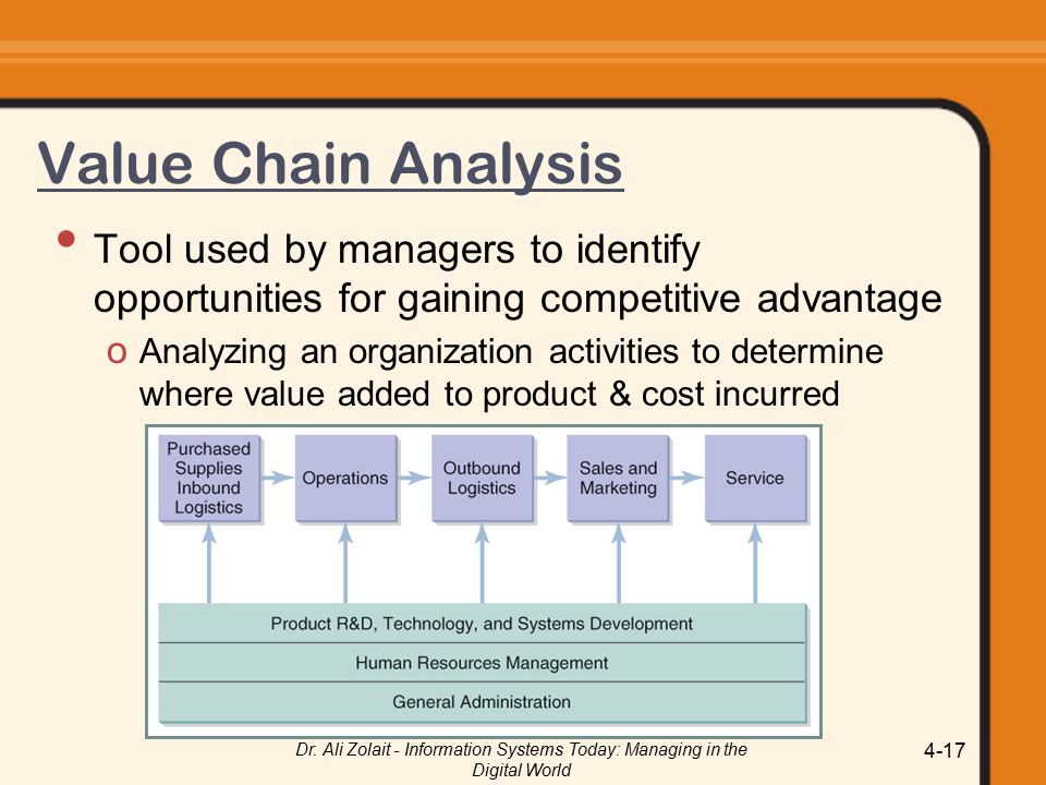 the strategic tool of value chain analysis Present a summary of the main concepts and tools used in strategic management   the internal analysis: corporate culture, organisational structure, value chain,.