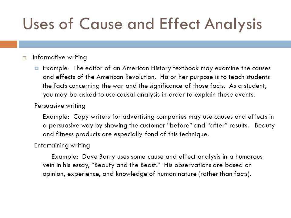 cause and effect analysis essays Here is a list of the winning cause and effect essays topics which are grouped by complexity levels and by subjects it can help you write an excellent paper.