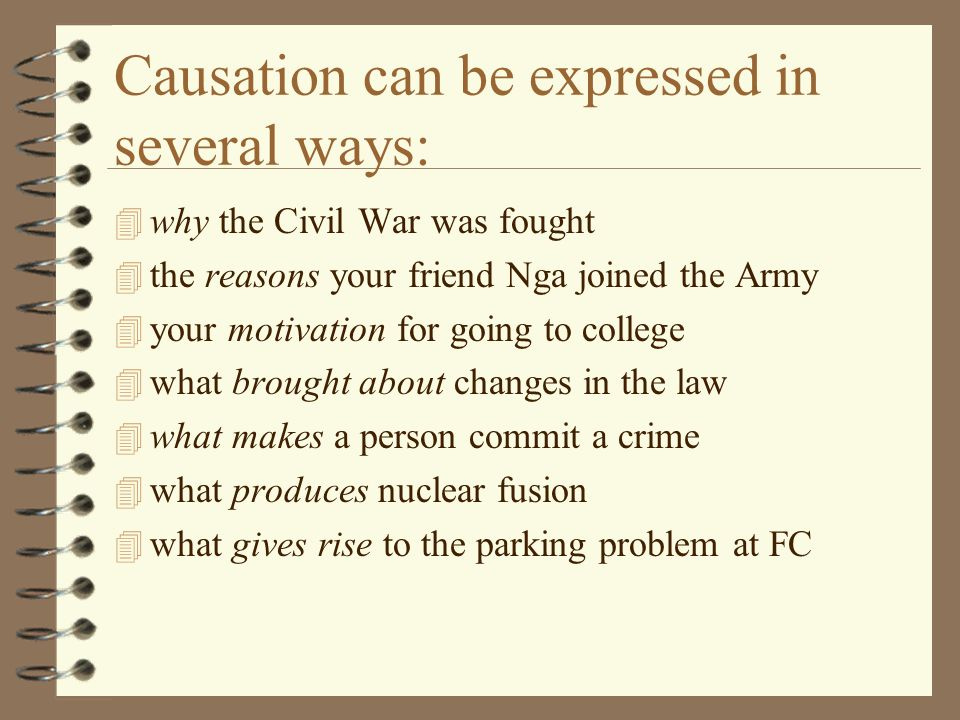 causal analysis essays an introduction and overview ppt video  3 causation