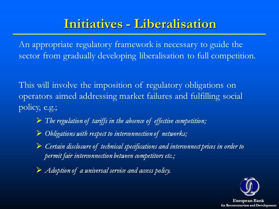 Initiatives - Liberalisation