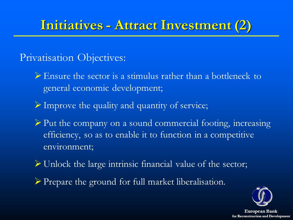 Initiatives - Attract Investment (2)